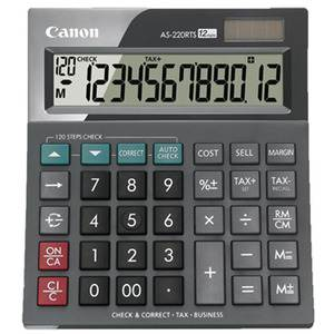Canon AS220RTS 12 Digit Large Business Desktop Calculator with Tax