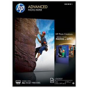 HP Advanced A4 Glossy 250gsm Photo Paper - 25 Sheets