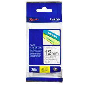 Brother TZe-131 12mm x 8m Black on Clear Tape