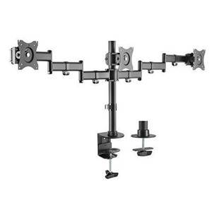 """Brateck 13-27"""" Triple Monitor Stand with Clamp/Grommet Base"""