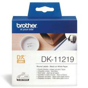 Brother DK11219 1200 Round Labels 12mm x 12mm