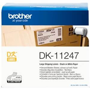 Brother DK11247 180 Large Shipping Labels 103mm x 164mm