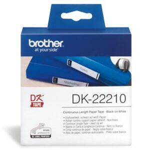 Brother DK22210 Continuous Length Paper Label Tape 29mm x 30.48m