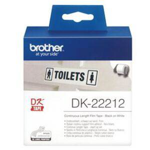 Brother DK22212 Continuous Length Paper Label Tape 62mm x 15.24m