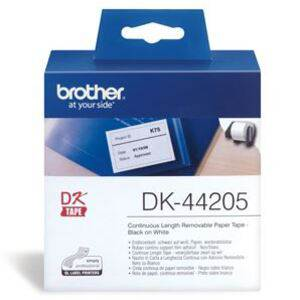 Brother DK44205 Continuous Paper Roll (Blk Print on Wht) 62mm x 30.48m