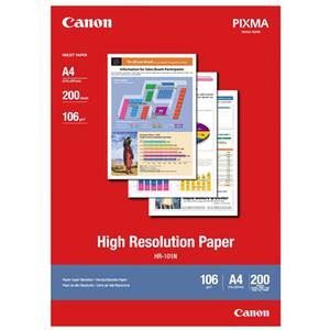Canon HR-101N A4 High Resolution 106gsm Photo Paper - 200 Sheets