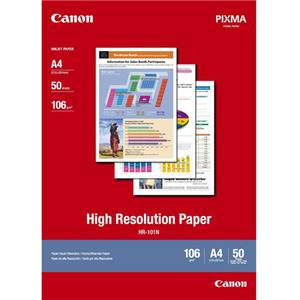 Canon HR-101N A4 High Resolution 106gsm Photo Paper - 50 Sheets