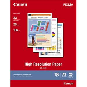 Canon HR-101 A3 High Resolution 110gsm Photo Paper - 20 Sheets