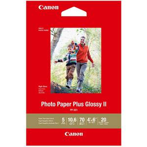 Canon PP-301 4x6 Glossy II 275gsm Photo Paper - 20 Sheets