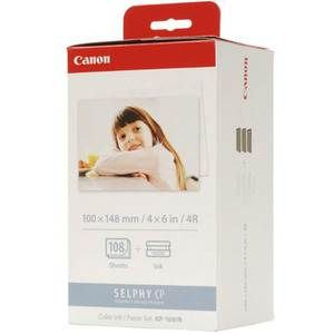 Canon KP-108IN Selphy 6x4 Photo Paper & Ink Kit - 108 Sheets