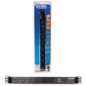 "6 Position Surge Protected Power Rail/Strip 19"" 2U Rackmount"