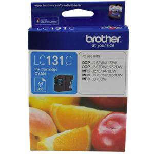Brother LC131 Cyan Ink Cartridge (300 Pages)