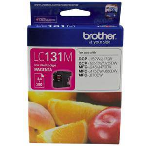 Brother LC131 Magenta Ink Cartridge (300 Pages)