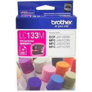 Brother LC133 Magenta Ink Cartridge (600 Pages)