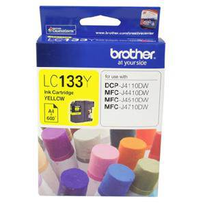 Brother LC133 Yellow Ink Cartridge (600 Pages)