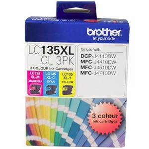 Brother LC135XL Value Pack (3 Pack)