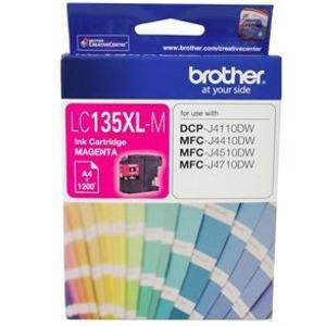 Brother LC135XL Yellow Ink Cartridge (1200 Pages)