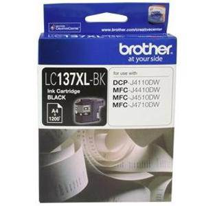 Brother LC137XL Black Ink Cartridge (1200 Pages)