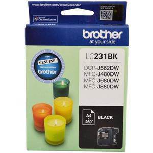 Brother LC231 Black Ink Cartridge (260 Pages)