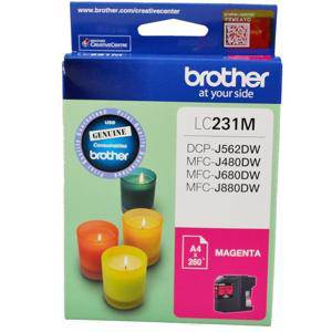 Brother LC231 Magenta Ink Cartridge (260 Pages)