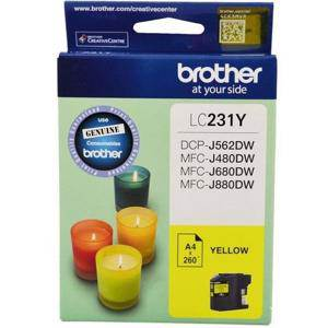 Brother LC231 Yellow Ink Cartridge (260 Pages)