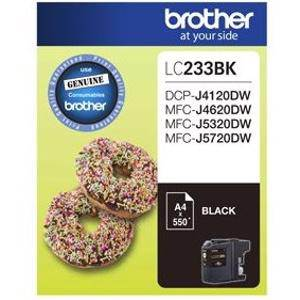 Brother LC233 Black Ink Cartridge (500 Pages)