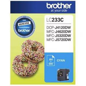 Brother LC233 Cyan Ink Cartridge (500 Pages)