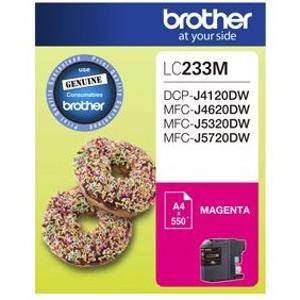 Brother LC233 Magenta Ink Cartridge (500 Pages)