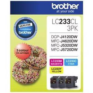 Brother LC233 Value Pack (3 Pack)