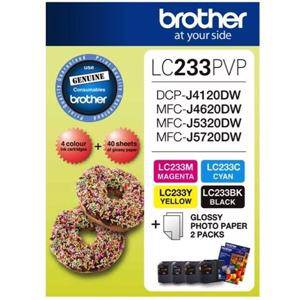 Brother LC233 Value Pack (4 Pack)