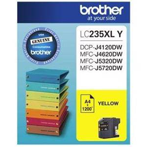 Brother LC235XL Yellow Ink Cartridge (1200 Pages)
