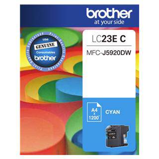 Brother LC23E Cyan Ink Cartridge (1200 Pages)