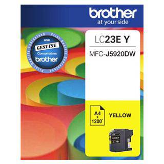 Brother LC23E Yellow Ink Cartridge (1200 Pages)