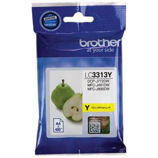 Brother LC3313 Yellow Ink Cartridge (400 Pages)