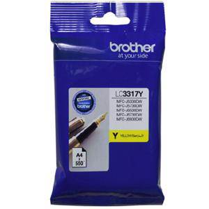 Brother LC3317 Yellow Ink Cartridge (550 Pages)