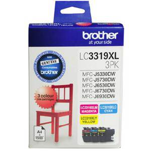 Brother LC3319XL Value Pack (3 Pack)
