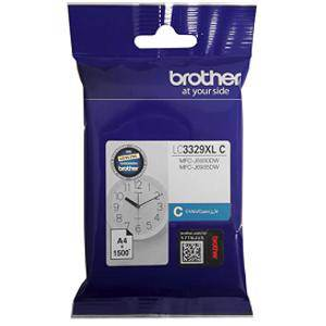 Brother LC3329XL Cyan Ink Cartridge (1500 Pages)