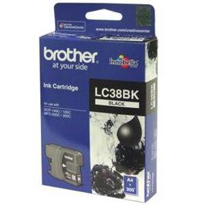 Brother LC38 Black Ink Cartridge (300 Pages)