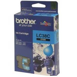 Brother LC38 Cyan Ink Cartridge (260 Pages)