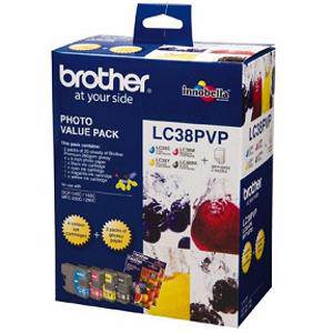 Brother LC38 Value Pack (4 Pack)