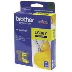 Brother LC38 Yellow Ink Cartridge (260 Pages)