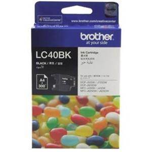 Brother LC40 Black Ink Cartridge (300 Pages)