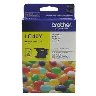 Brother LC40 Yellow Ink Cartridge (300 Pages)