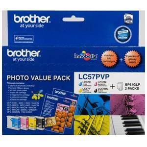 Brother LC57 Value Pack (4 Pack)