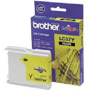 Brother LC57 Yellow Ink Cartridge (400 Pages)