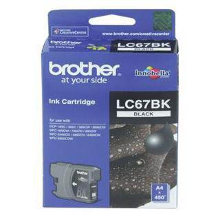 Brother LC67 Black Ink Cartridge (450 Pages)