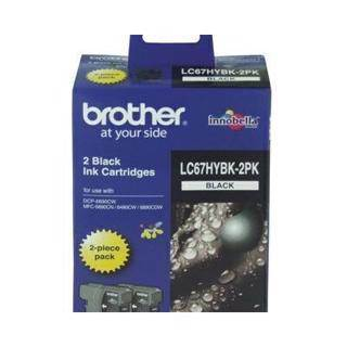 Brother LC67 Black Twin Pack