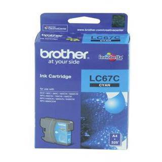 Brother LC67 Cyan Ink Cartridge (325 Pages)