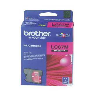 Brother LC67 Magenta Ink Cartridge (325 Pages)