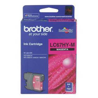 Brother LC67XL Magenta Ink Cartridge (750 Pages)